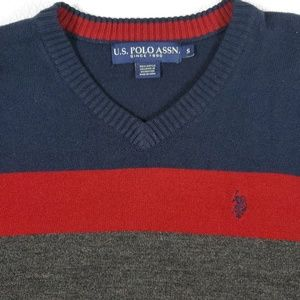 U.S. Polo Assn. Sweaters - US Polo Color Block Striped Pull Over Sweater